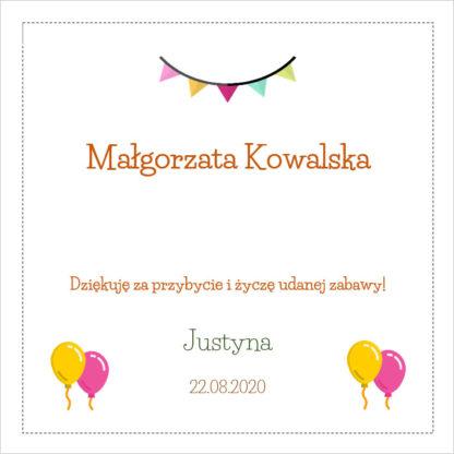 Kolorowa winietka na urodziny [Projekt 1]