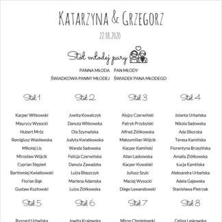 Prosty plan stołów weselnych [Projekt 2]