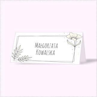 Winietka z ramką kwiatową [Projekt 1]